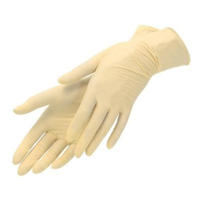 Перчатки одноразовые Benovy латексные неопудренные бежевые (размер XL, 100 штук/50 пар в упаковке)