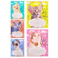 Тетрадь школьная Проф-пресс Котята в наушниках А5 12 листов в клетку (обложка в ассортименте)