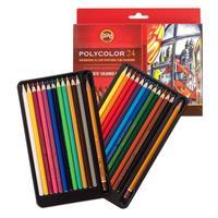 Карандаши цветные Koh-I-Noor Polycolor художественные 24 цвета шестигранные с точилкой