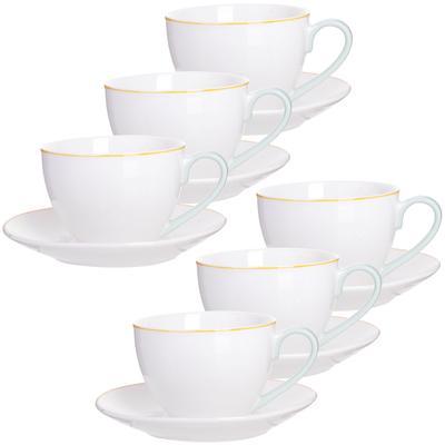 Сервиз чайный Loraine (28608) на 6 персон фарфор (6 чашек 220 мл, 6 блюдец 14 см)