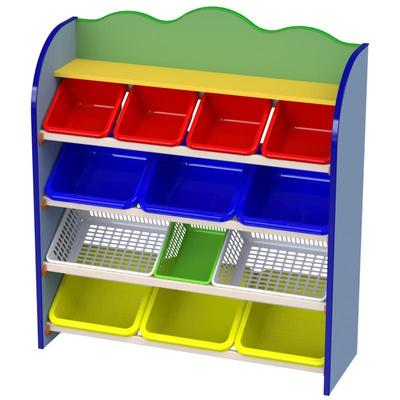 Стеллаж детский М-536 (разноцветный, 1060x350x1180 мм)