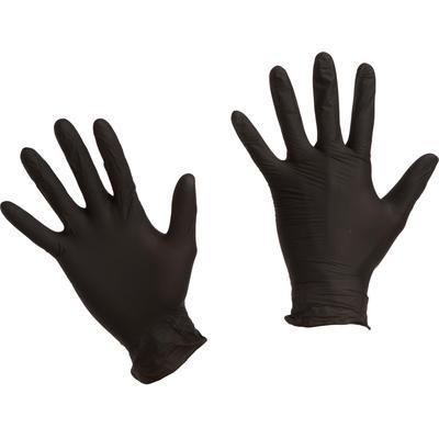 Перчатки одноразовые Benovy нитриловые неопудренные черные (размер XL, 200 штук/100 пар в упаковке)