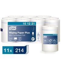 Полотенца бумажные в рулонах с центральной вытяжкой Tork Mini Roll Advanced M1 2-слойные 11 рулонов по 75 метров (артикул производителя 101221)