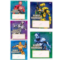 Тетрадь школьная Проф-пресс Робот-воин А5 12 листов в линейку (обложка в ассортименте)