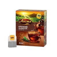 Чай Лисма Крепкий черный 100 пакетиков