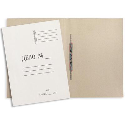 Скоросшиватель картонный Дело № А4 до 200 листов белый (плотность 380 г/кв.м, 20 штук в упаковке)
