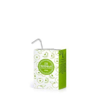 Сок СТО яблочный 0.2 л (27 штук в упаковке)