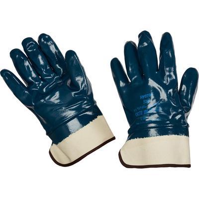 Перчатки рабочие из трикотажного полотна Ansell Хайкрон 27-805 с полным нитриловым покрытием (манжета крага, размер 11, XXL)