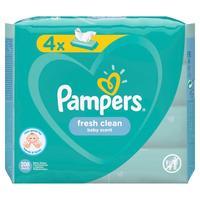 Влажные салфетки детские Pampers Fresh Clean (4 упаковки по 52 штуки)