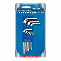 Набор шестигранных ключей King Tony 1.5-10 мм короткие 9 предметов (20219MR)