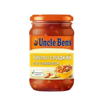 Соус Uncle Benz кисло-сладкий с ананасом в стеклянной банке 210 г