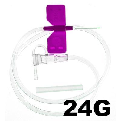 Игла-бабочка SFМ 24G (0.55х19 мм, 100 штук в упаковке)