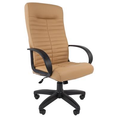 Кресло для руководителя Chairman 480 LT бежевое (искусственная кожа, пластик)