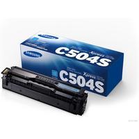 Тонер-картридж Samsung CLT-C504S SU027A голубой оригинальный
