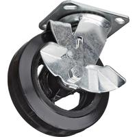 Колесо для тележки поворотное SCdb 160 с тормозом 160 мм