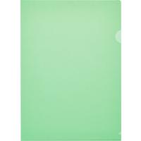 Папка-уголок Attache Economy A4 пластиковая 100 мкм зеленая (10 штук в упаковке)
