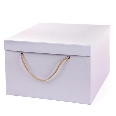 Подарочная коробка для цветов сиреневая (30х30х20 см)