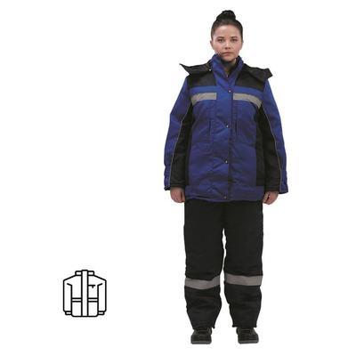 Куртка рабочая зимняя женская з07-КУ гретта с СОП синяя/васильковая (размер 48-50, рост 158-164)