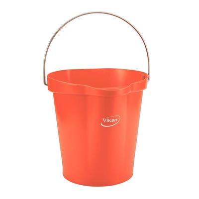 Ведро Vikan 12 л пластик пищевой/нержавеющая сталь красное