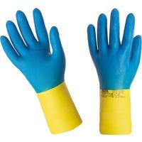 Перчатки Mapa Alto/Duo-Mix 405 из неопрена и латекса синие/желтые (размер 8, M, пер493008)