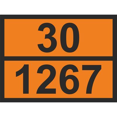 Знак безопасности Знак ООН 30/1267 Нефть сырая (300х400 мм, пленка)