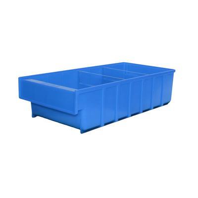 Ящик пластиковый ДиКом серия Б синий (185x400x100 мм, 10 штук в упаковке)