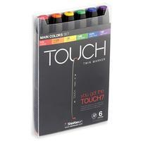 Набор маркеровTouch Twin основные цвета 6 штук