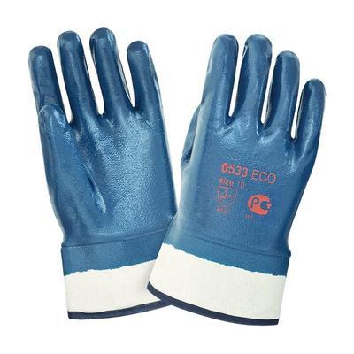 Перчатки рабочие трикотажные 2Hands 0533 с тяжелым нитриловым покрытием (манжета крага размер 10)