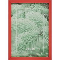Рамка А4 21х30 см деревянный багет 16 мм красная
