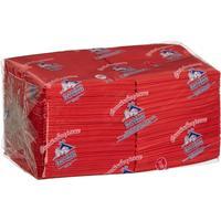 Салфетки бумажные Profi Pack 24x24 см красные 2-слойные 250 штук в   упаковке
