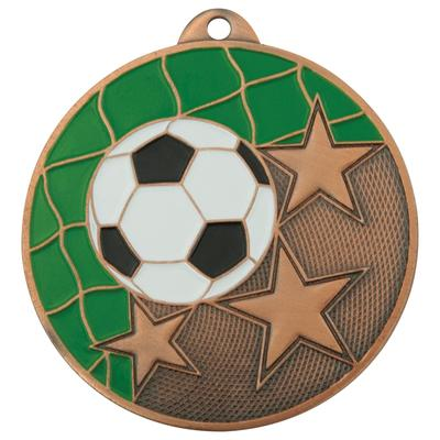 Медаль призовая 3 место Футбол 50 мм