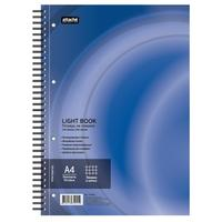 Бизнес-тетрадь Attache Selection LightBook А4 100 листов синяя в клетку на спирали (218х297 мм)
