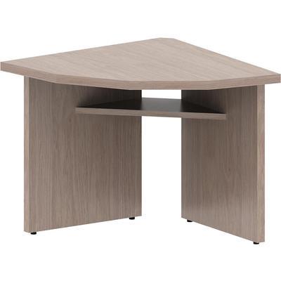 Стол приставной сектор Born левый (дуб девон, 90 градусов, 840x840x750 мм)