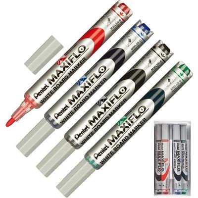 Набор принадлежностей Pentel MWL5S-4N для магнитно-маркерной доски (4 маркера, губка)