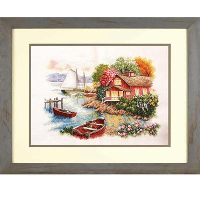 Набор для вышивания Dimensions Спокойный дом у озера 36x28 см