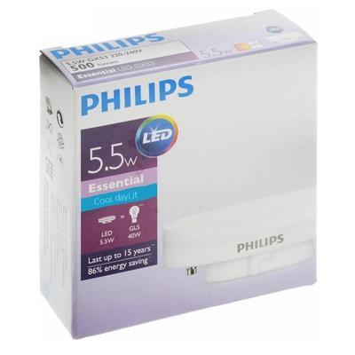 Лампа светодиодная Philips 5.5 Вт GX53 рефлектор 4000 К нейтральный белый свет