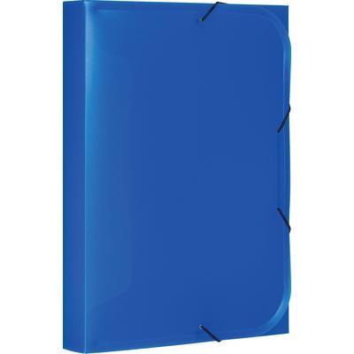Папка-короб на резинках Attache А4 40 мм пластиковая до 350 листов синяя (толщина обложки 0.45 мм)