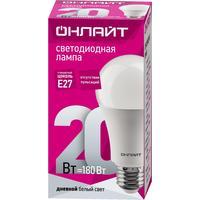 Лампа светодиодная ОНЛАЙТ OLL-A60-20-230-6.5K-E27 20Вт Е27 6500К 61159