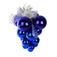 Подвеска кисть винограда синяя (высота 16 см)
