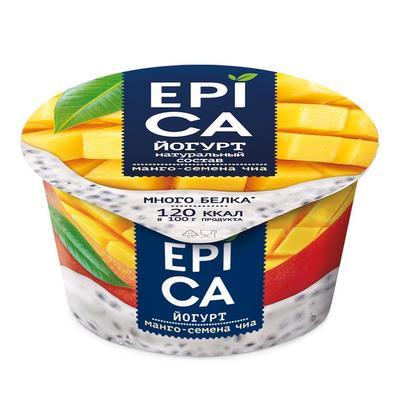 Йогурт Epica манго-семена чиа 5% 130 г