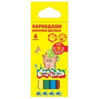 Карандаши цветные Каляка-Маляка 6 цветов шестигранные