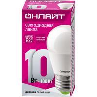 Лампа светодиодная ОНЛАЙТ OLL-G45-10-230-6.5K-E27 10Вт Е27 6500К 61970