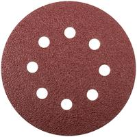 Круг шлифовальный с отверстиями 5 шт. (липучка 125 мм, Р36) FIT  (39661)