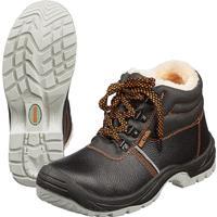 Ботинки утепленные Мистраль натуральная кожа черные с металлическим подноском размер 43