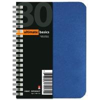 Блокнот Альт Off-line А6 80 листов синий в клетку на спирали (105x140 мм) (артикул производителя 3-80-155)