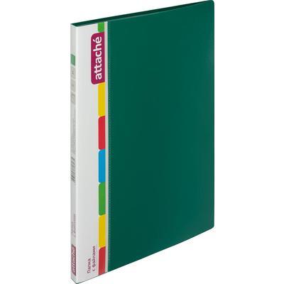 Папка файловая на 30 файлов Attache A4 15 мм зеленая (толщина обложки 0.7 мм)