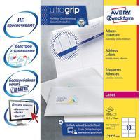 Этикетки самоклеящиеся Avery Zweckform адресные белые 99.1x57 мм (10 штук на листе A4, 100 листов, артикул производителя L7173-100)