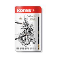 Набор чернографитных карандашей Kores Grafitos заточенные (12 штук в упаковке)