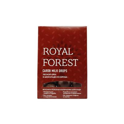 Шоколад кэроб Royal Forest Carob Milk Drops лесной орех 75 г