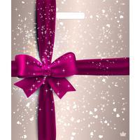 Пакет подарочный пластиковый Подарочный перламутр (45х38 см, 50 штук в упаковке)